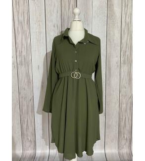 kleedje groen met riem