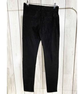 broek lang zwart met glitters