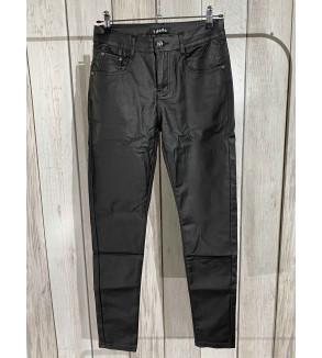 broek lang glanzend zwart