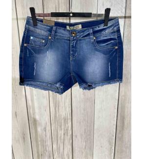 short jeans blauw