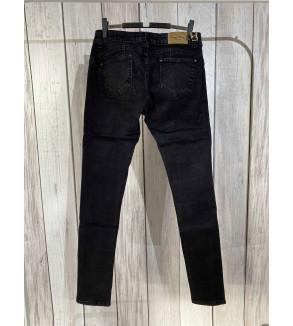 broek lang zwart met scheuren