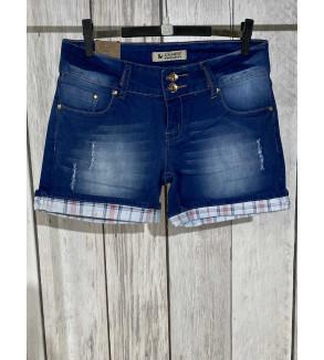 short jeans blauw met...